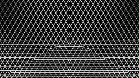 triangle wire reflected with alpha matte Stock Video Footage