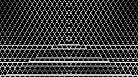 triangle wire reflected with alpha matte Animation