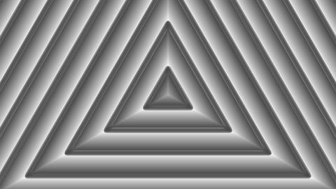 monochrome triangle pattern with alpha matte Stock Video Footage