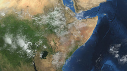 South Sudan. 3D Earth in space - zoom in on South Animation