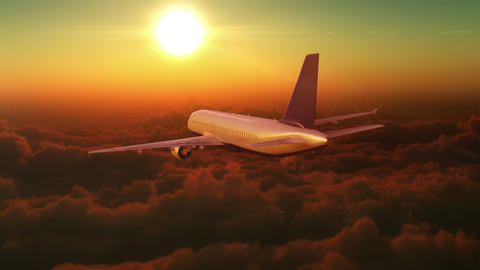 Flight In The Clouds stock footage