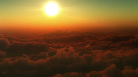 Flight in the clouds Stock Video Footage