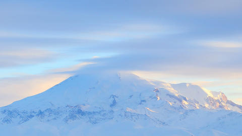 Movement of the clouds on the mountains Elbrus, No Stock Video Footage