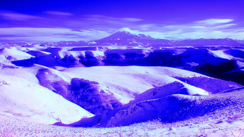InfraRed Landscape: Movement Of The Clouds On The stock footage