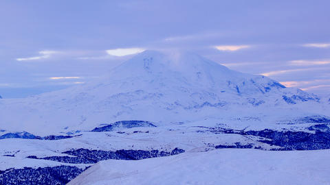 Timelapse sunrise in the mountains Elbrus, Norther Footage