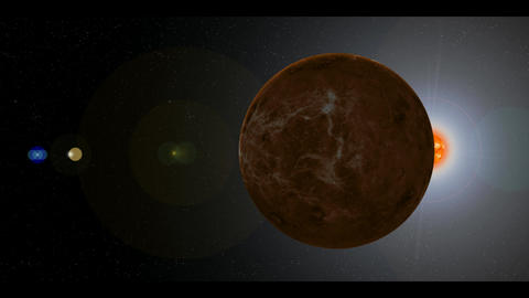 Planet Venus in Space Animation