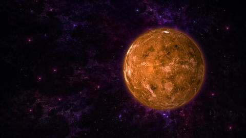 Planet Venus on Stars Background Stock Video Footage