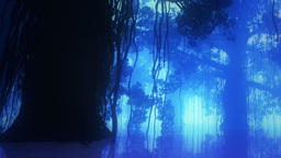Mysterious Deep Jungle in Water at Night 11 Animation