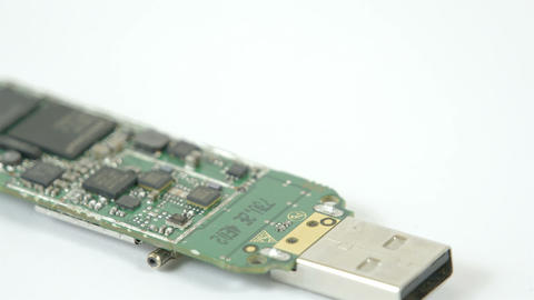A USB chip with small chipset on it Footage