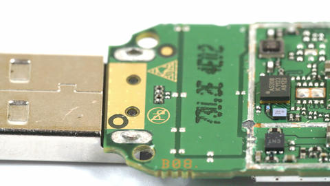 Close up look of the micro chips of a USB Stock Video Footage