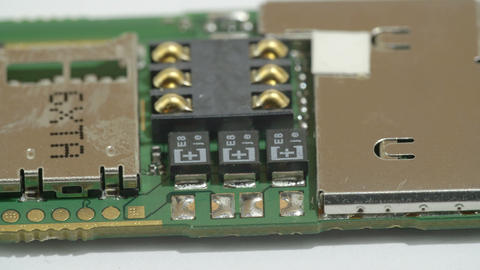 The details of the USB microchip Stock Video Footage