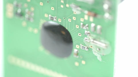 The micro board of the chip of the battery Stock Video Footage