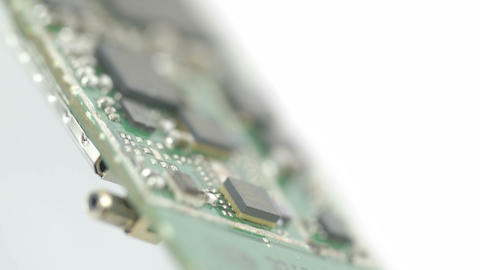 Black transistors and micro boards of the chip Stock Video Footage