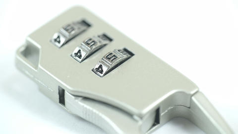 A suitcase lock with a number of 456 Stock Video Footage