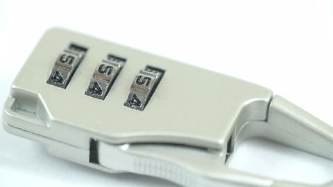 A Suitcase Lock With A Number Of 456 stock footage