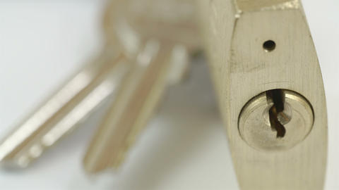 A padlock and the keys Stock Video Footage