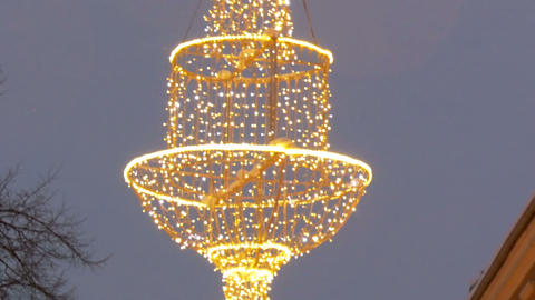 Hanging decoration on the town hall Stock Video Footage