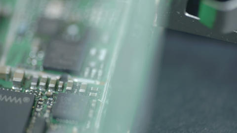 Micro chips with micro boards on it Stock Video Footage