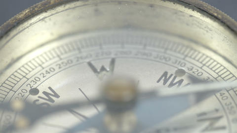 The arrow of the compass on the N direction Stock Video Footage