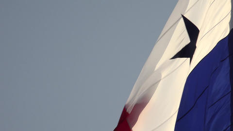 Panama Close Up of Panamanian Flag With Copy Space Stock Video Footage