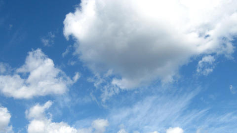 Clouds running time lapse movie Stock Video Footage