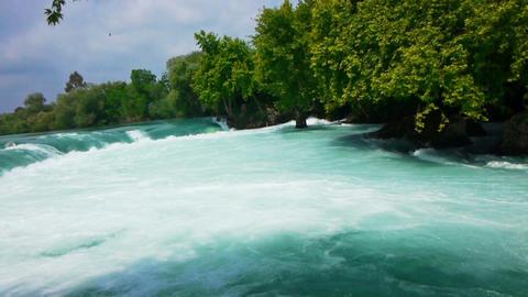 Manavgat waterfall near Side in Turkey Stock Video Footage
