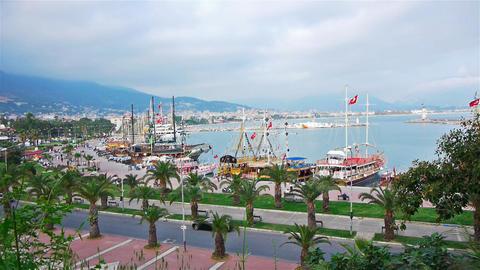 Panoramic view to Alanya, Turkey Footage