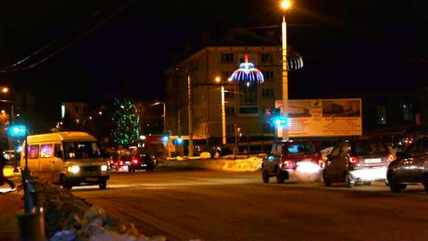 Night city traffic Stock Video Footage