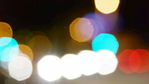 Abstract defocused city street lights Stock Video Footage