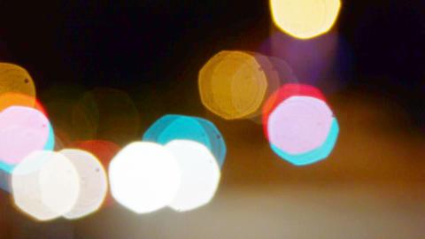 Abstract defocused city street lights Footage