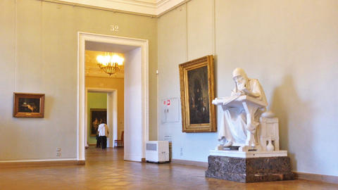 Interior of Russian Museum in Saint Petersburg, Ru Stock Video Footage