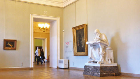 Interior Of Russian Museum In Saint Petersburg, Ru stock footage