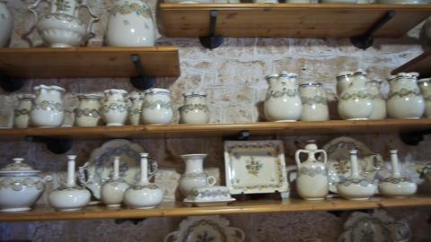 Trulli interior - traditional homes in Alberobello Stock Video Footage