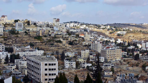 Panoramic view to Bethlehem, Palestine Stock Video Footage