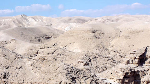 Judean desert panoramic view Stock Video Footage