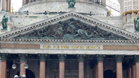Saint Isaac Cathedral, St. Petersburg, Russia Footage