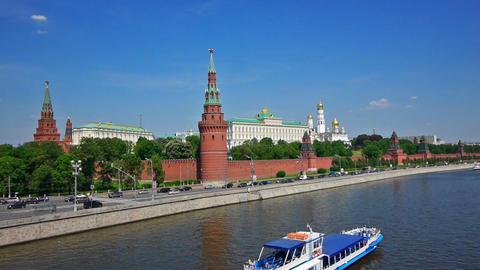 Moscow Kremlin classic view Stock Video Footage
