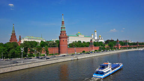 Moscow Kremlin classic view Footage