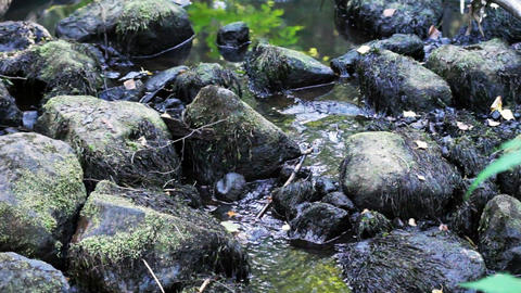 Mountain stream with boulders Footage
