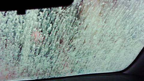 Car wash point of view video Stock Video Footage