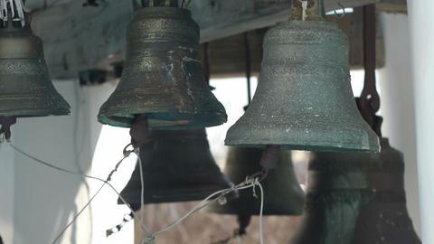 Bells on church bellfry Footage