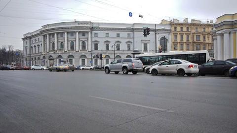 St. Petersburg, Russia, Nevsky Prospect traffic Footage