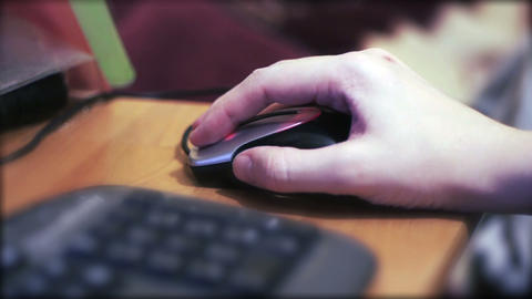 Hand on mouse Stock Video Footage
