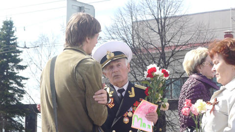 PETROZAVODSK, RUSSIA -MAY 09: Victory Day celebrat Footage