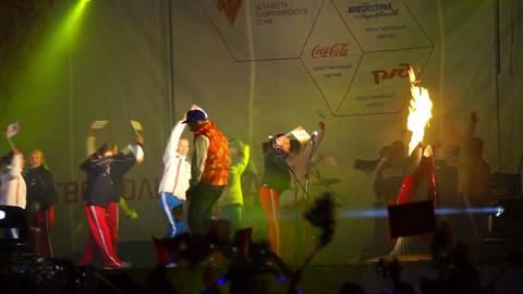 Kids performance during official song of Sochi2014 Footage
