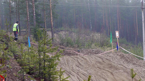 PETROZAVODSK, RUSSIA -May, 07: Motorcross extreme Stock Video Footage