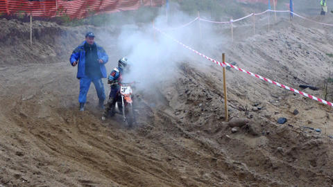 PETROZAVODSK, RUSSIA -May, 07: Motorcross extreme  Footage