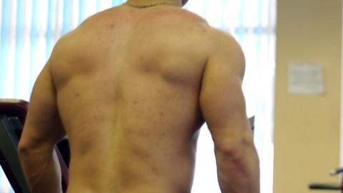 Body builder sportsman training Stock Video Footage