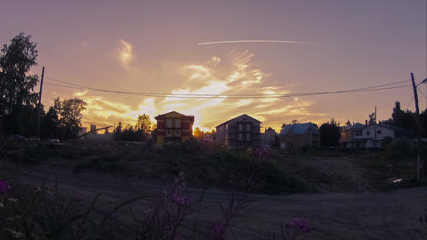 Summer evening in countryside, timelapse Stock Video Footage