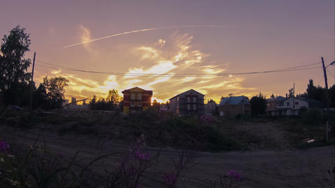 Summer Evening In Countryside, Timelapse stock footage
